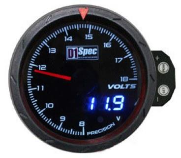 Zegar D1Spec 60mm - Volt - GRUBYGARAGE - Sklep Tuningowy